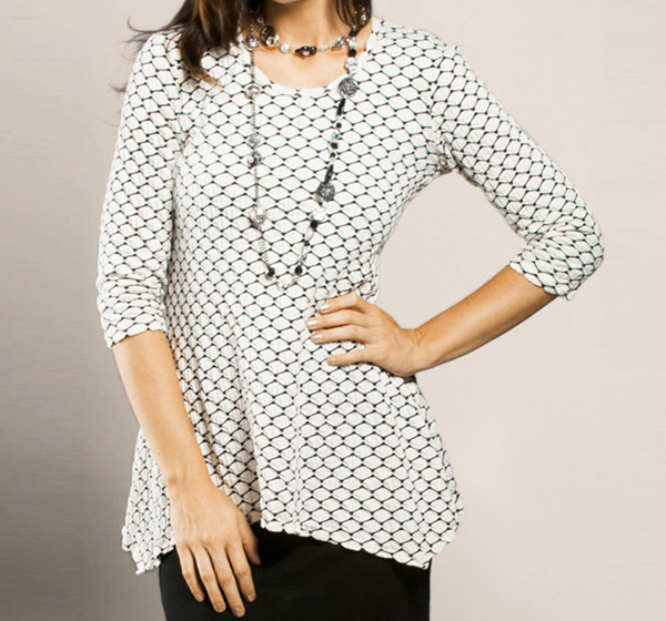 Fashionable top made with Jacquard Fabric
