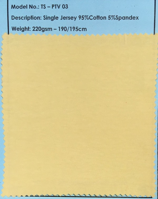 Yellow Single Jersey Fabric