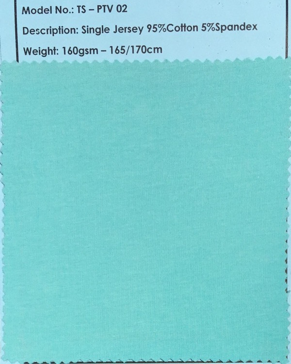 95% CO 5% SPA Single Jersey Fabric