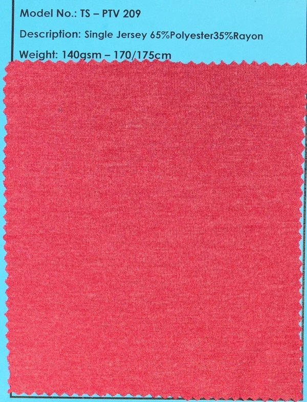 Red Single Jersey Fabric