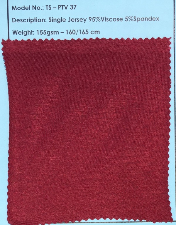 95% VC 5% SPA Single Jersey Fabric