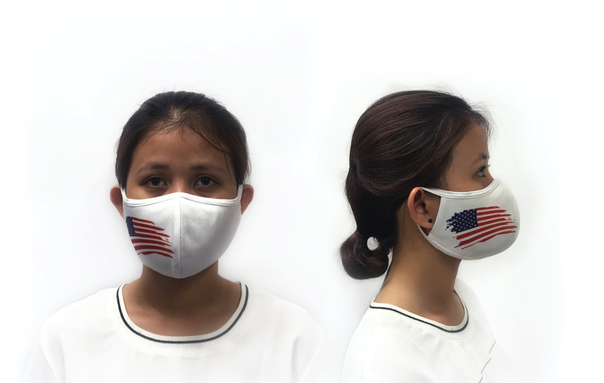 Flu Face Mask with USA Flag