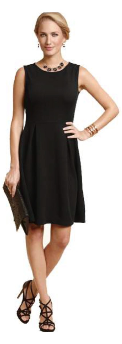 Princess sleeveless little black jacquard knit dress / pouf jacquard knit dress    polyester with spandex.