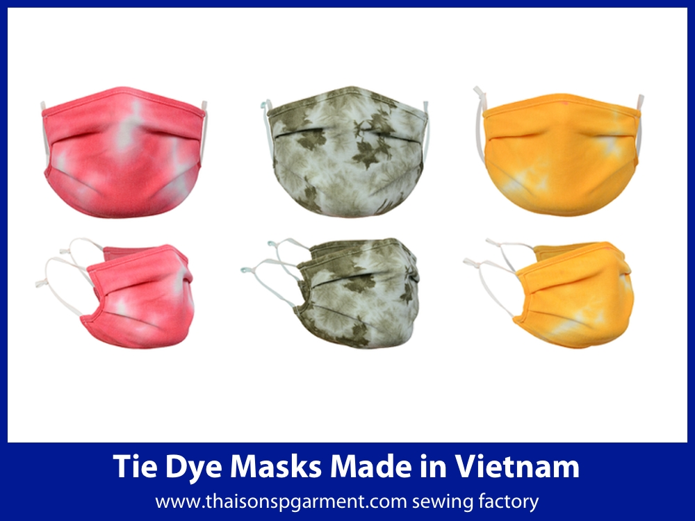 traditional tie dye face masks